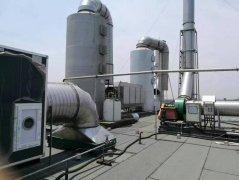 喷漆废气处理液的吸收过程